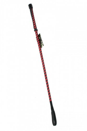 Oscuro APH103-BR Full Leather Slapper Riding Crop Black / Red