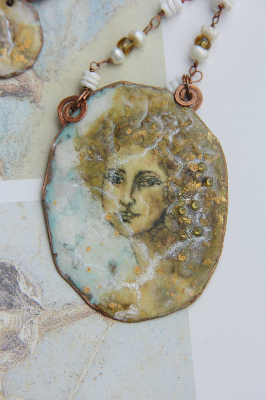 BENANDLU - Necklace-artifact Un affresco. Roman style