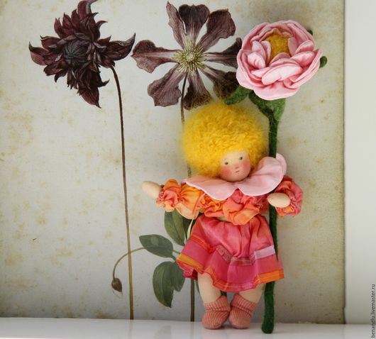BENANDLU - Rose. Waldorf doll and as little mobile game