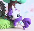 My Little Pony Rarity chibi kawaii miniature Garden figure strap pendant Keychain