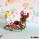 Alice in Wonderland Miniature cute Tulgey Wood with Cheshire Cat