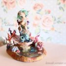 OOAK Mermaid Miniature cute sea garden stand display figure siren