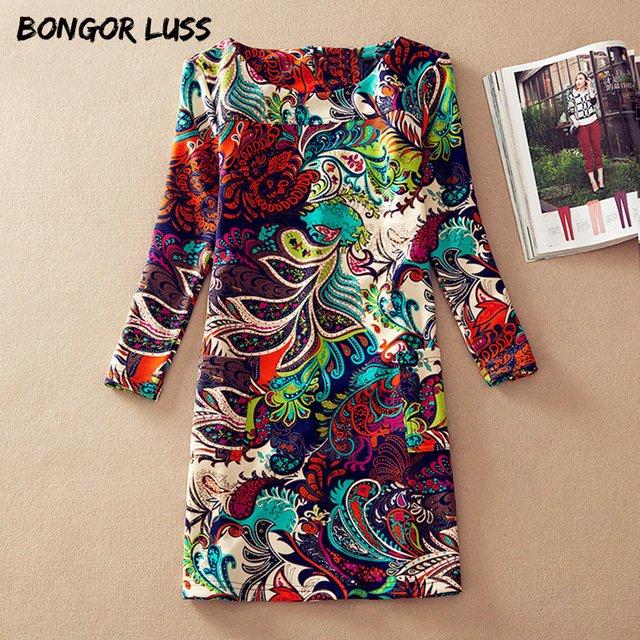 Boho style long dress women Off shoulder beach summer dresses Floral print