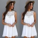 Casual Dresses for Woman 2017 Sleeveless Dresses Summer Fit Mini Beach Sexy