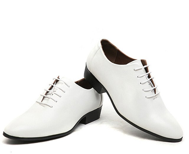 Monstceler 2017 new men business formal oxfords shoes male pointed toe leat