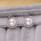 2016 NEW Pearl Jewelry genuine freshwater pearl earrings 925 sterling silve