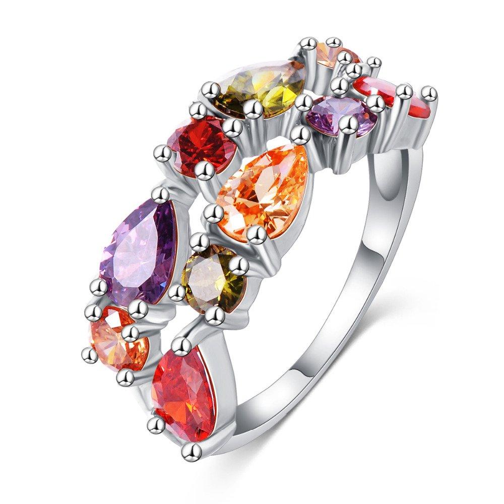 LZESHINE Wedding Ring Bands Bijouterie Finger Ring
