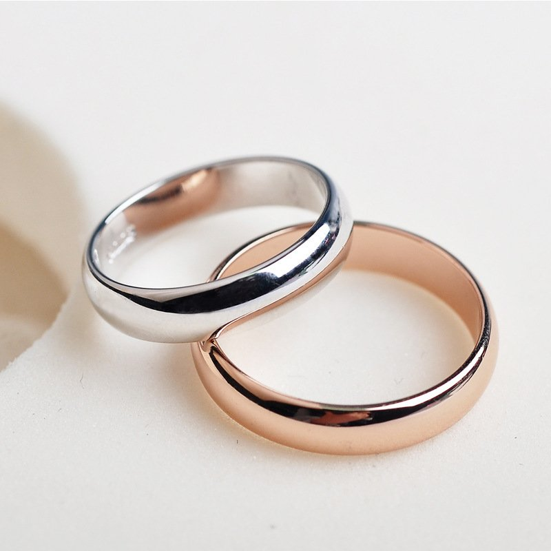 Jewelry Crystal Ring Rose Gold