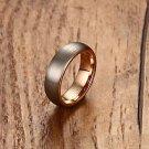 Meaeguet 6mm Tungsten Carbide Ring Rose Gold