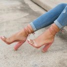 Summer Ankle Strap High Heels Women Thick Nude Summer Shoes
