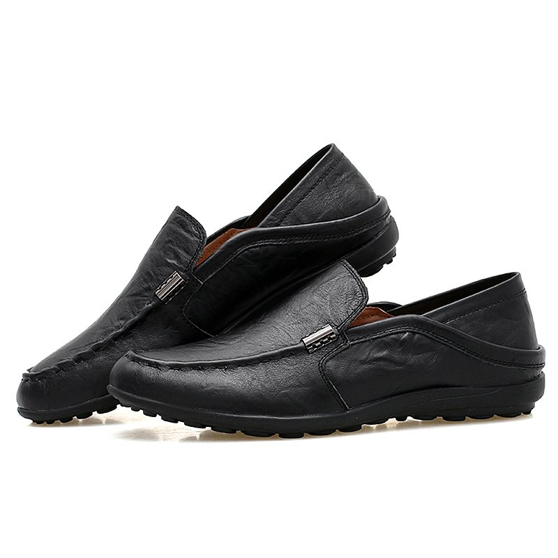 Split Leather Driving Moccasins Gommino Formal Shoes Male