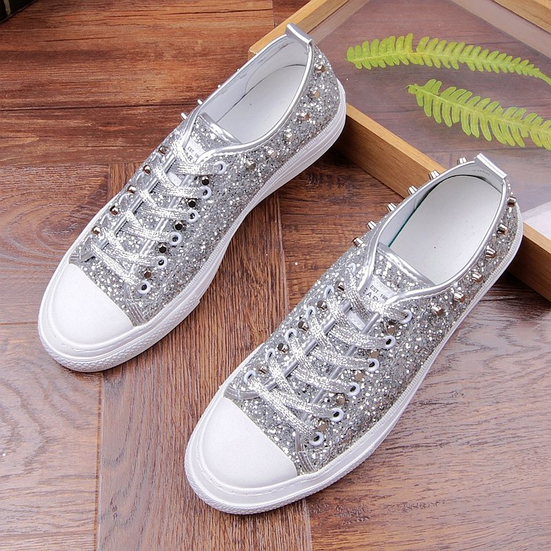 2017 men vintage stage nightclub dresses bright sequins rivets shoes