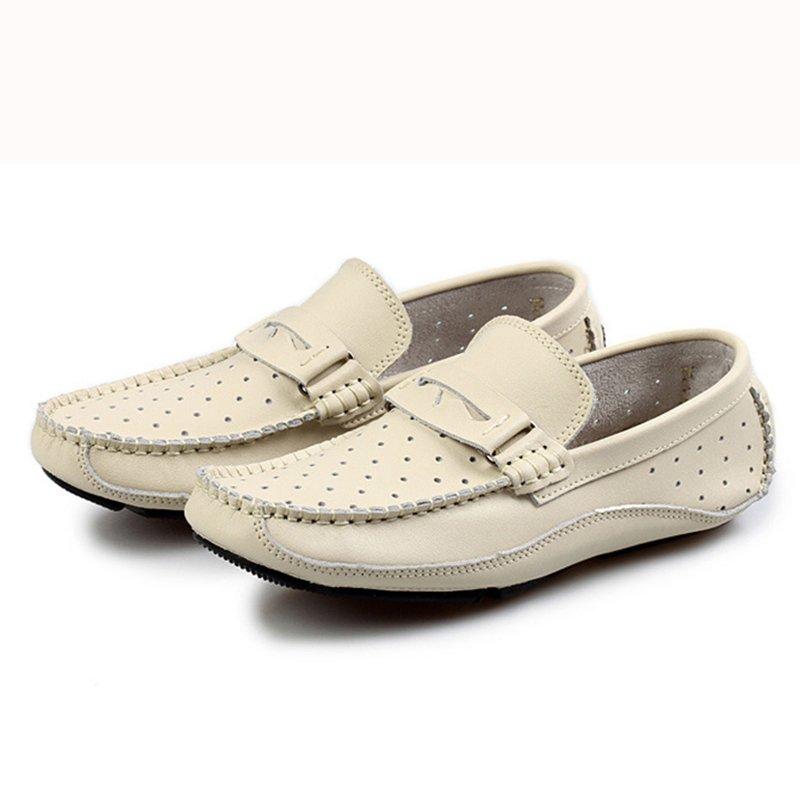 Summer Breathable Men Loafers Handmade Moccasins Genuine