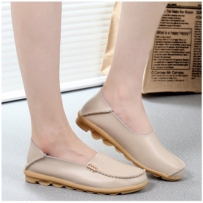 2017 Fashion Summer genuine leather women flats shoes