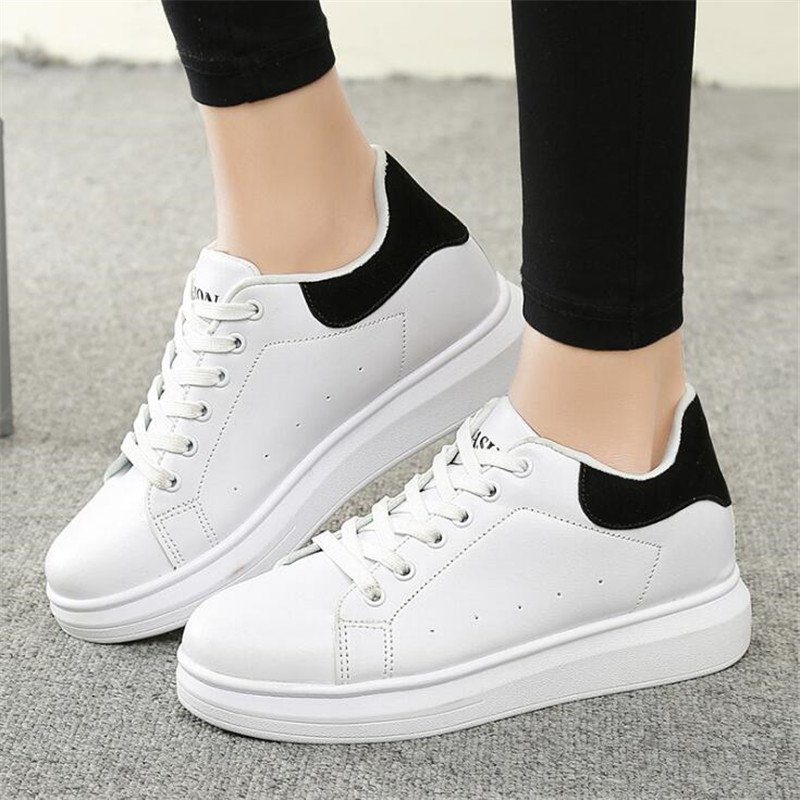 Spring Women Casual Shoes Fashion Lace-up Style Platform Woman