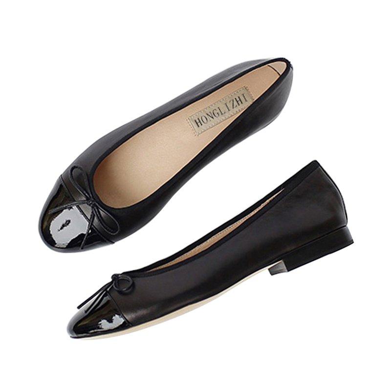 Ballet shoes single female shallow mouth shoes black female