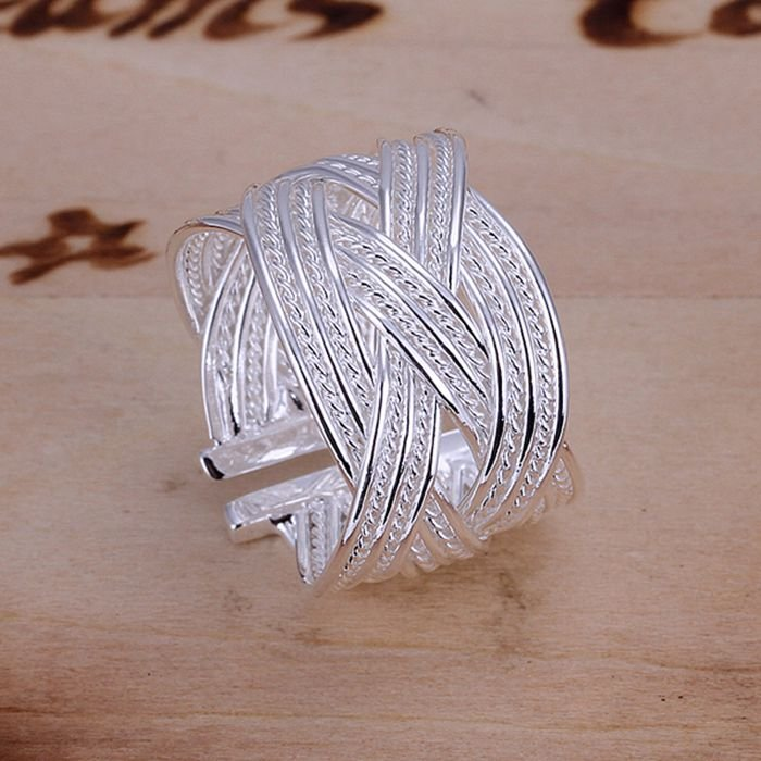 925 jewelry silver plated Ring Fine Fashion