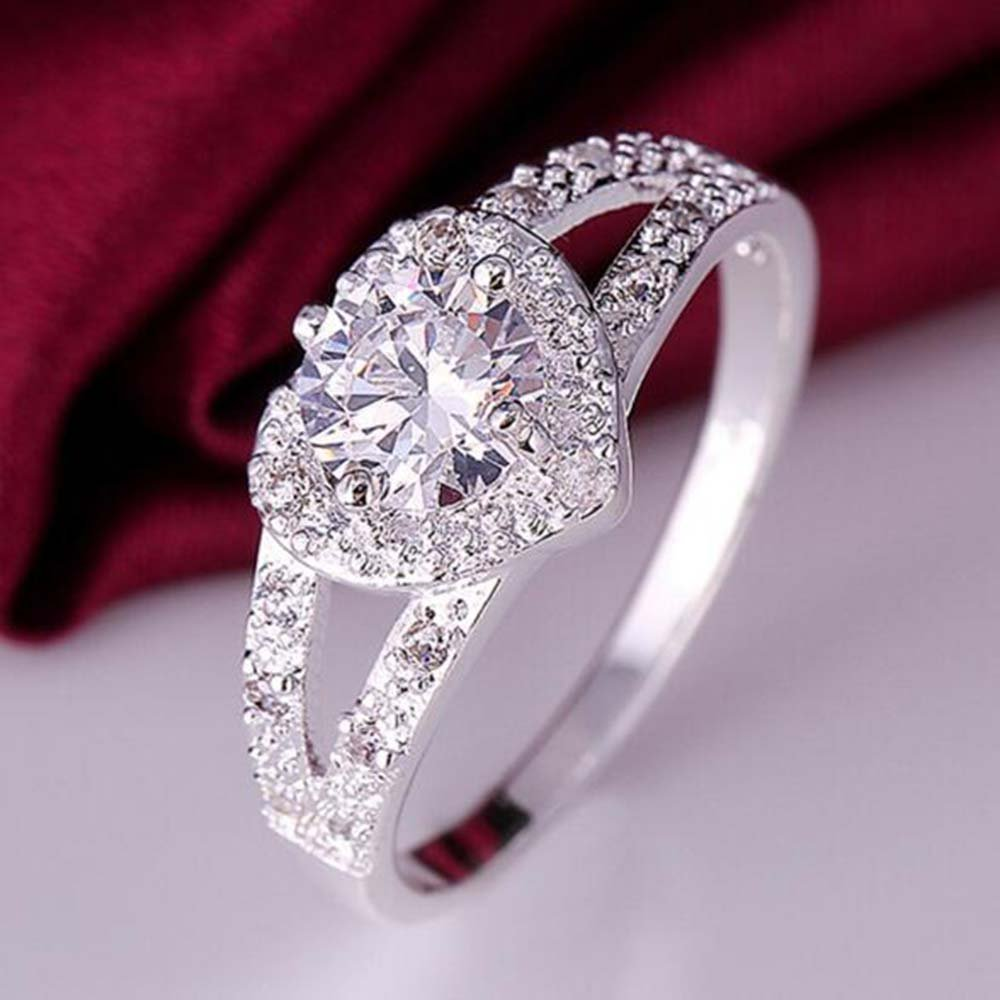 The new cute hot silver ring fashion jewelry