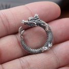 New Fashion 100% Real 925 Sterling Silver Ring Dragon