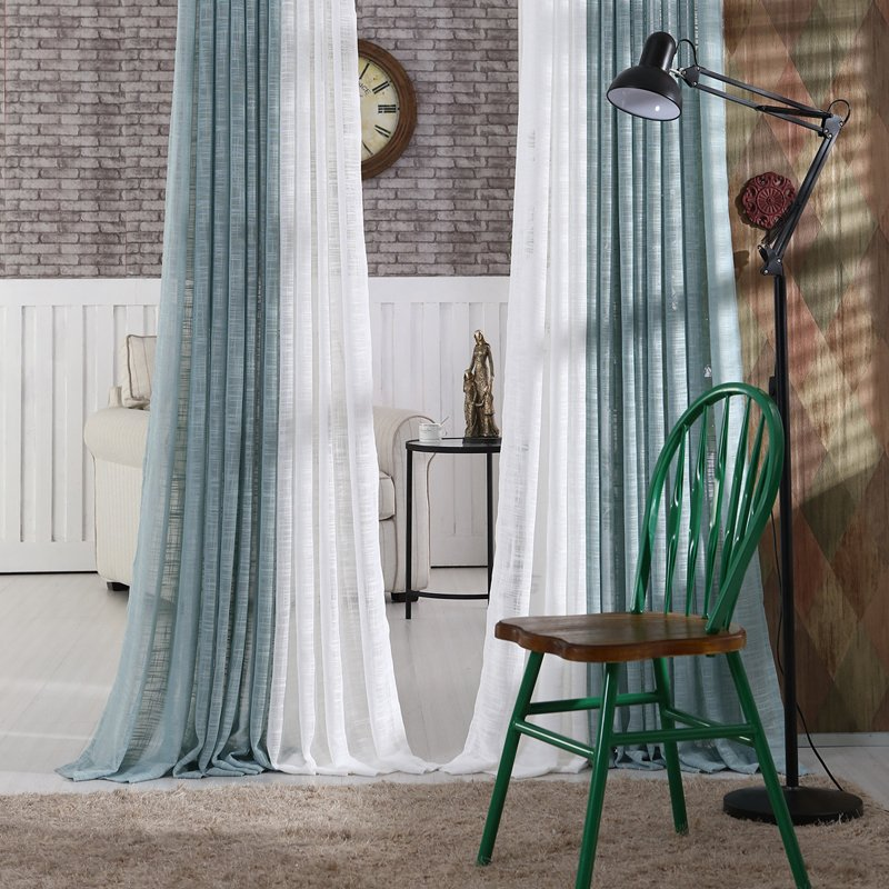 New Japan Solid Tulle Curtains for Bedroom Tulle