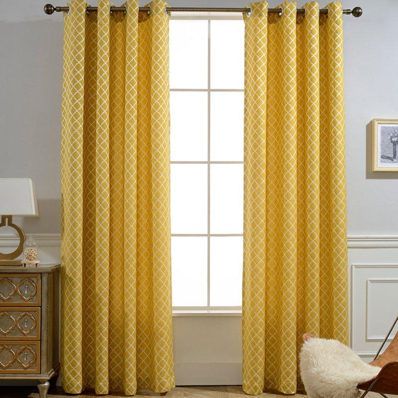 soft touch geometric black out cloth fabric curtain for livingroom blue custom