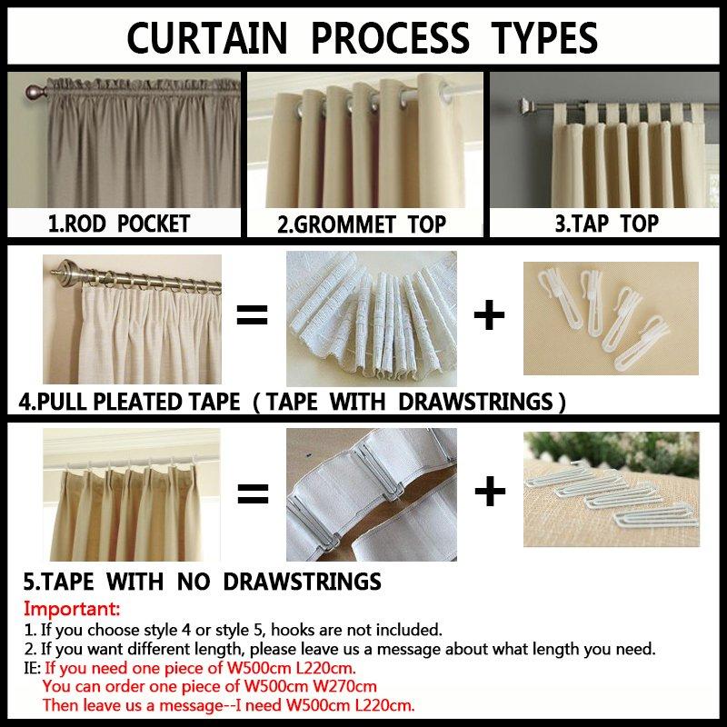 Modern organza transparent tulle curtains