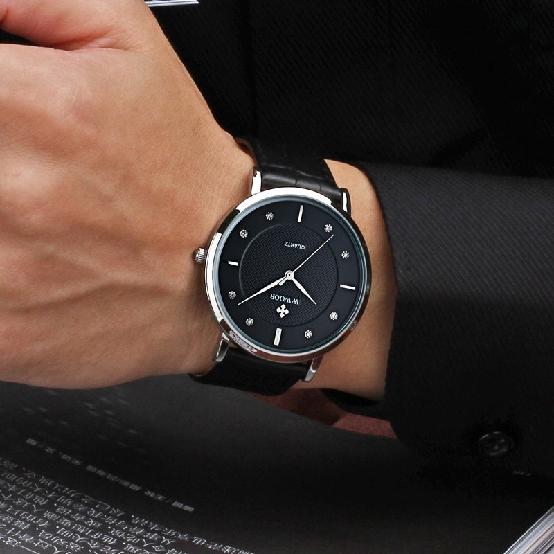 Men Watches New Luxury Brand Ultra Thin Full Genuine Leather Clock Male