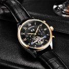 Fashion Luxury Brand BINSSAW leather Tourbillon Watch Automatic Men