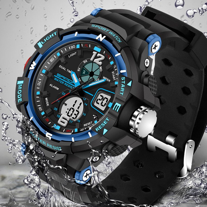 Sport Watch SANDA Men 2017 Clock Male LED Digital Quartz Wrist Watches