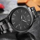 2017 New Fashion Black Wrist Watch Women Men Full