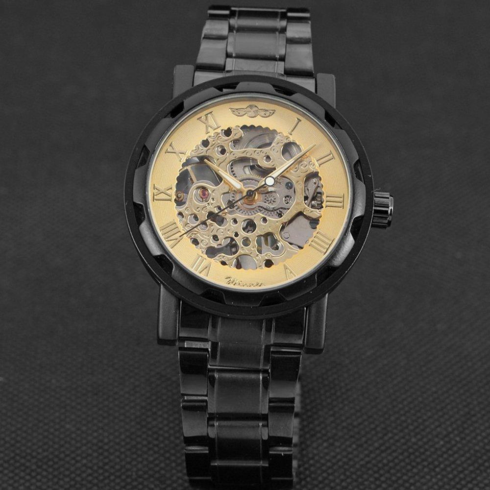 New 2017 Luxury Brand Winner Stainless Steel Mechanical Watch Men