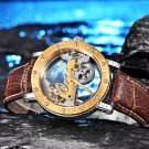 IK colouring Gold Hollow Automatic Mechanical Watches Men Luxury Brand