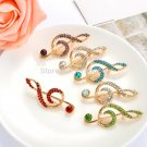 AZORA Gold Color Stellux Austrian Crystal Flower Pin Brooch for Women TP001