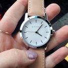 Fashion Design Women Watches KINGSKY Brand Wristwatch Pink Leather Strap Lu