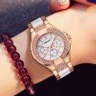 New Fashion Women Watches KINGKSY Brand Rhinestone Case Charming Gold White