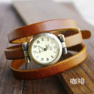 Holiday sale christmas gift Vintage Genuine Cow leather wrist watch women d
