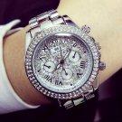 Ladies Luxury Fashion steel Watches men Crystal Rhinestone Reloj woman Watc