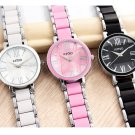 KIMIO Ladies Imitation Ceramic Resin Bracelet Roman Quartz Watch Womens Wat