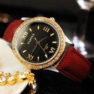 Classic lady watches brand fashion business women watch canvas PU luxury el