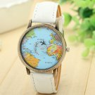 Xiniu 2017 Men Women Watches Global Travel By Plane Map Casual Denim Quartz