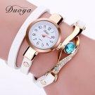 Duoya Brand Watch Women Luxury Gold Eye Gemstone Dress Watches Women Gold B