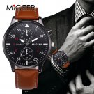 MIGEER 2017 Fashion Casual Mens Watches Luxury Leather Business Quartz Watc