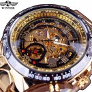 Winner New Number Sport Design Bezel Golden Watch Mens Watches Top Brand Lu