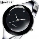 Relojes mujer 2017 Stainless steel Wristwatch Bracelet Quartz watch Woman L