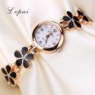 Lvpai Brand Luxury Crystal Gold Watches Women Fashion Bracelet Quartz Wrist