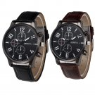 Retro Design Leather Band Analog Alloy Quartz Wrist Watches relogio masculi