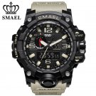 SMAEL Brand Waterproof Fashion Watch Men Sport Analog Quartz Watch Dual Dis