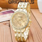 2017 New Famous Brand Gold Crystal Geneva Casual Quartz Watch Women Stainle