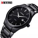 Curren Top Brand Business Men Male Luxury  Watch Casual Full steel Calendar