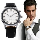 Men Business Quartz Watch 2017 Stylish Men's Pu Leather Military Watches Sp